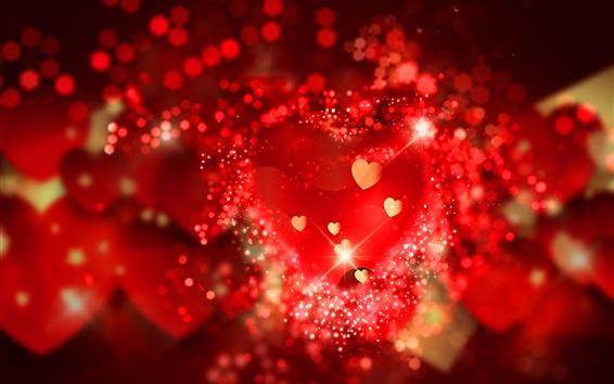 Papéis de Parede Corações de amor vermelho, romântico