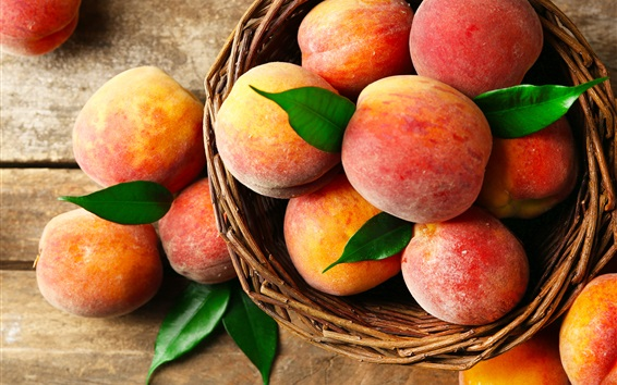 Wallpaper Red peaches, delicious fruit