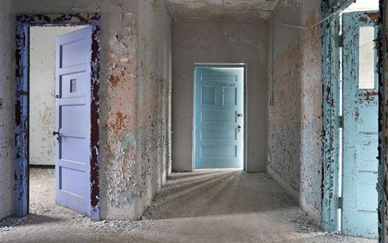 Wallpaper Room, door, dust