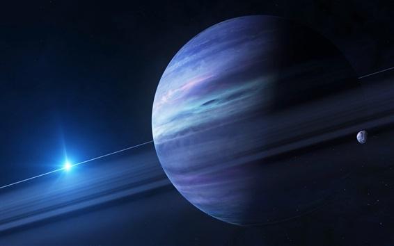 Обои Солнечная система, Юпитер, спутник, солнце, космос