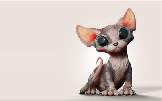 壁纸 斯芬克斯猫,艺术图片