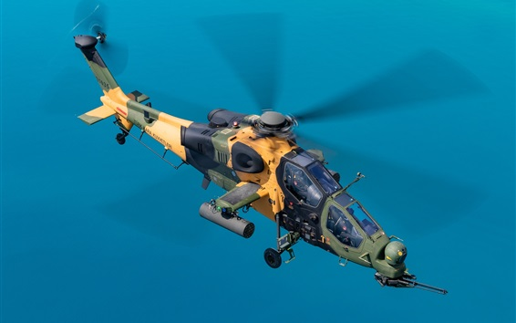 Wallpaper T-129B Lightweight Attack Helicopter