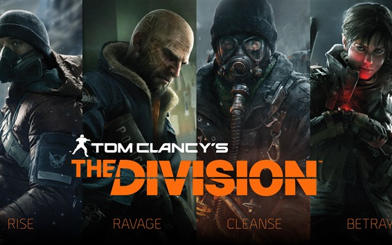 Wallpaper Tom Clancy's The Division, soldiers, 4k