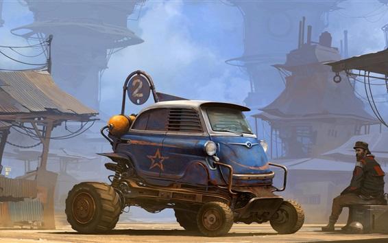 Papéis de Parede Transporte, carro, homem, imagens de arte