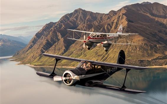 Fondos de pantalla Dos aviones, biplano