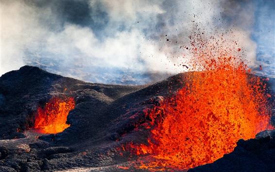 Hintergrundbilder Vulkan, Stein, Magma