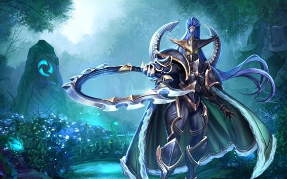 Wallpaper World of Warcraft, warrior, mask