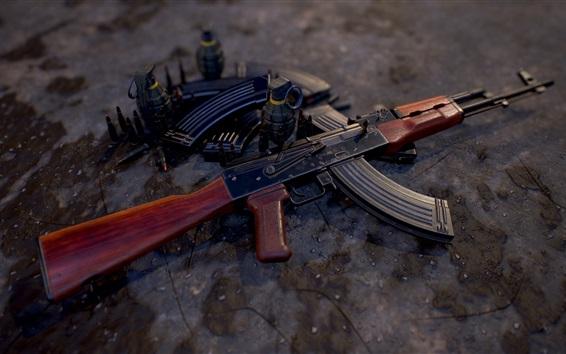 Обои Автомат АКМ, оружие