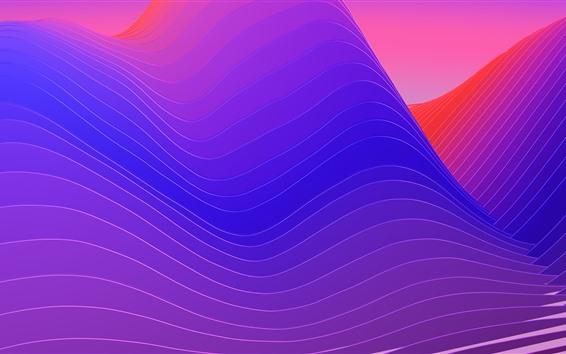 Wallpaper Abstract curves, mountains, creative design