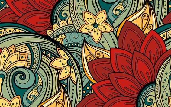 壁紙 抽象的な花、アート写真