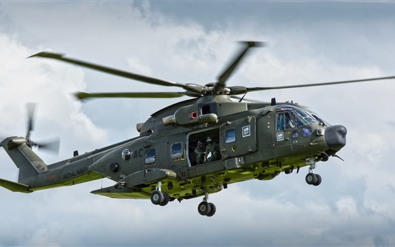 Wallpaper AgustaWestland AW101 helicopter