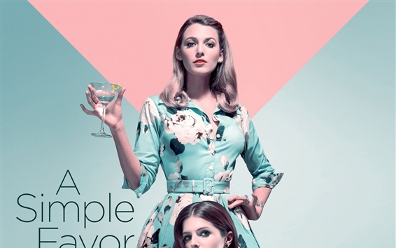 Wallpaper Anna Kendrick, Blake Lively, A Simple Favor