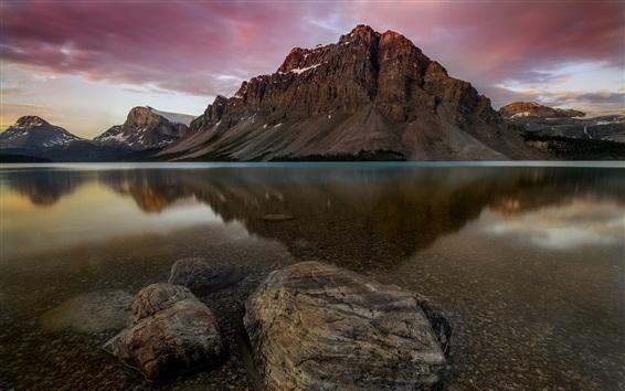Обои Национальный парк Банф, Канадские Скалистые горы, озеро, вода, Канада