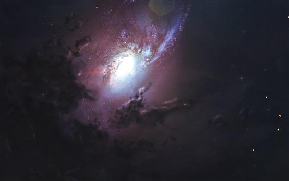 Обои Красивая туманность, космос, звезды, космос