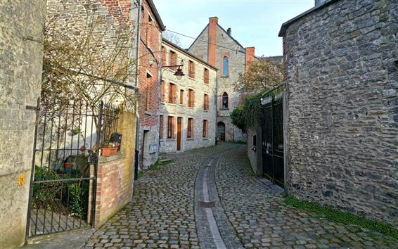 Wallpaper Belgium, village, street, houses