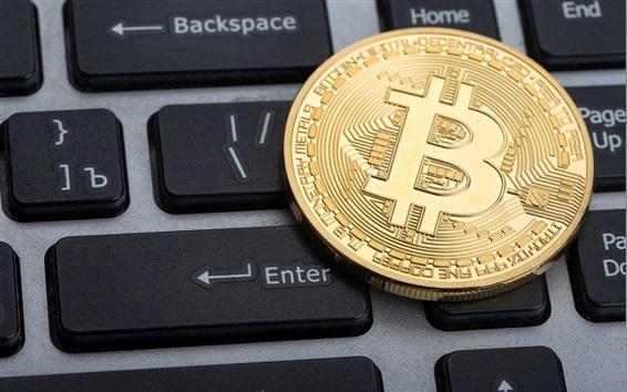Wallpaper Bitcoin, keyboard