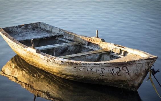 Wallpaper Boat, dust, river