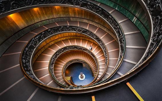 Wallpaper Bramante Staircase, spiral, Vatican Museums