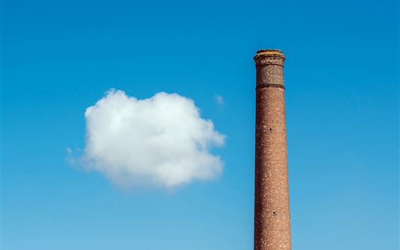 Wallpaper Chimney, blue sky