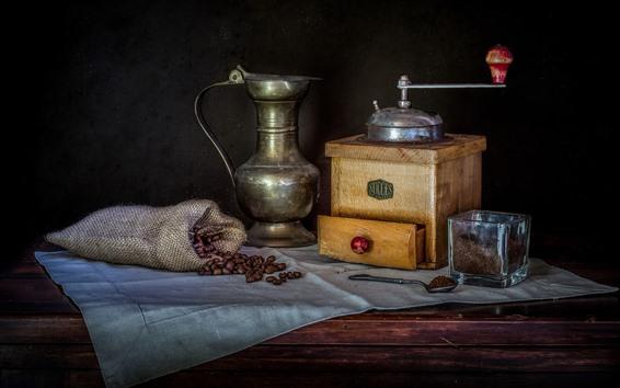 Wallpaper Coffee grinder, coffee beans