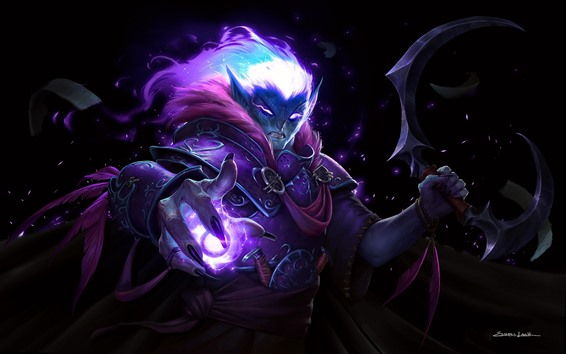 Fondos de pantalla Elfo oscuro, World of Warcraft, WOW, imagen de arte