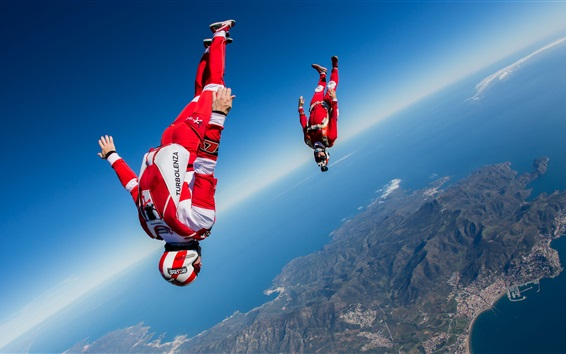 Wallpaper Extreme sport, skydivers, sky