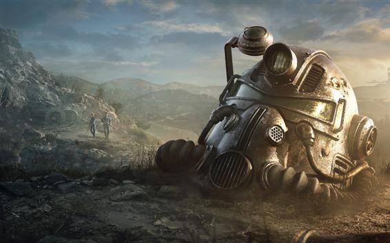 Wallpaper Fallout 4, helmet