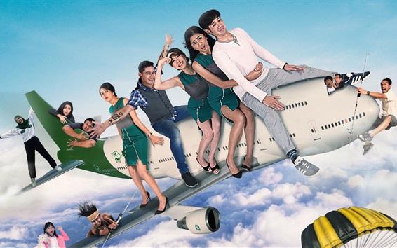 Wallpaper Flight 555