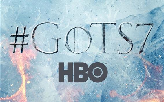 Fond d'écran Game Of Thrones, saison 7, logo