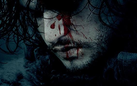 Fondos de pantalla Juego de tronos, cara, sangre