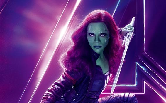 Wallpaper Gamora, Avengers: Infinity War