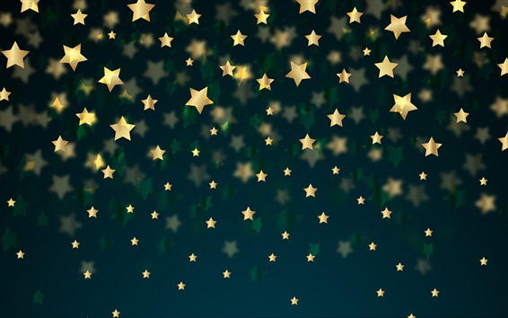 Обои Золотой фон звезд
