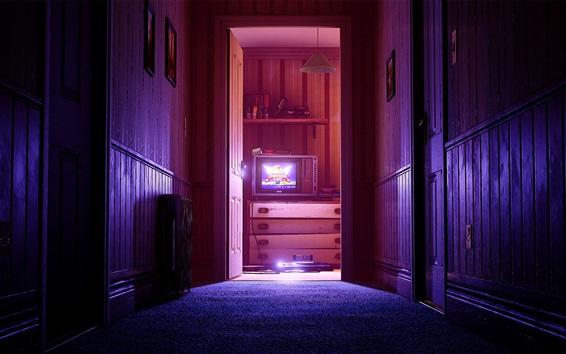 Wallpaper Home, room, door, TV