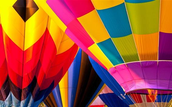 Fondos de pantalla Globos aerostáticos, colores vivos