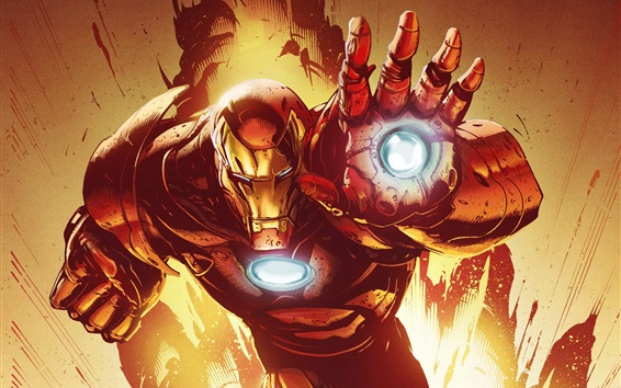 Hintergrundbilder Iron Man, Marvel Comics, Kunstbild