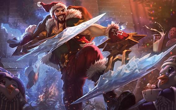Wallpaper League of Legends, Santa, art picture