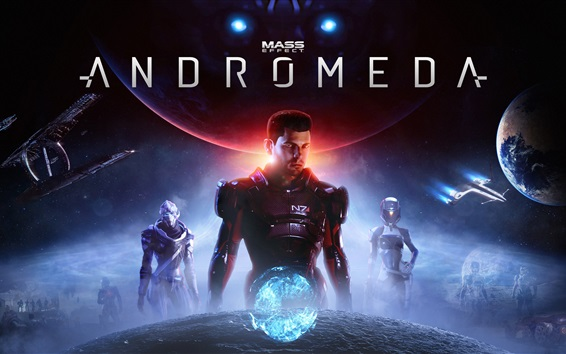 Wallpaper Mass Effect: Andromeda, action role-playing game