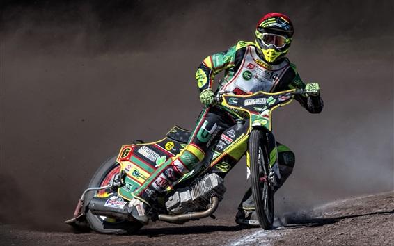 Wallpaper Motorcycle, race, dust