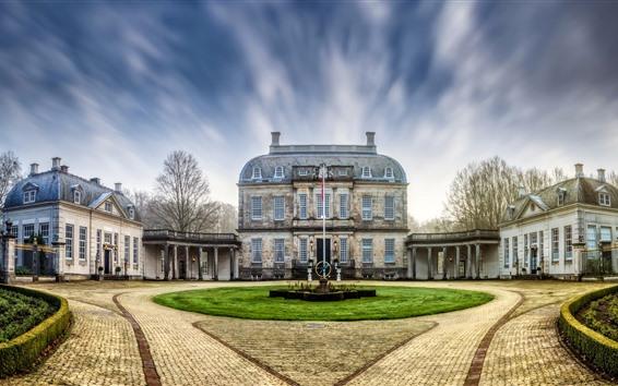 Wallpaper Netherlands, mansion, houses, trees