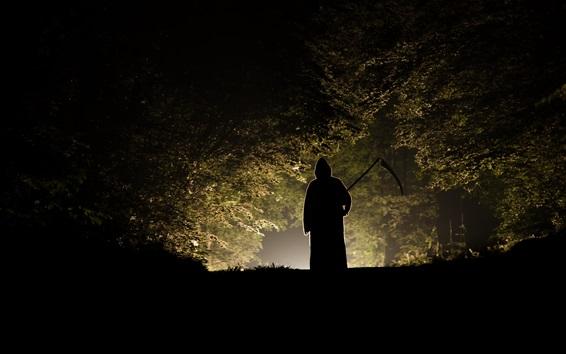 Wallpaper Night, death, trees, backlight, horror