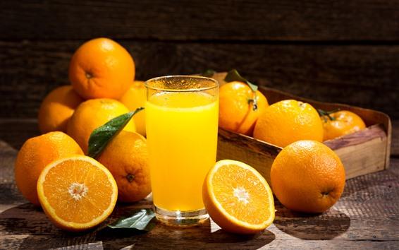 Wallpaper Orange, juices, glass cup