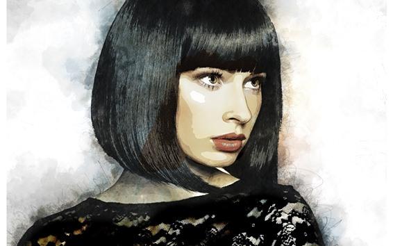 Wallpaper Short Hair Girl Hair Style Art Picture 5120x2880 Uhd 5k