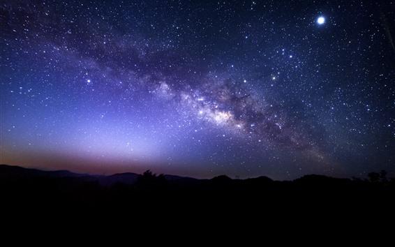 Обои Звездное небо, звезды, ночь