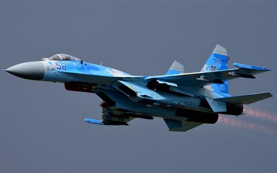 Wallpaper Su-27 combat aircraft