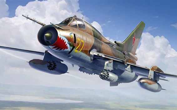 Wallpaper Sukhoi Su-17M4 fighter-bomber