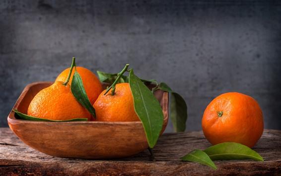 Wallpaper Tangerines, citrus, fruit