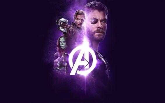 Papéis de Parede The Avengers: Infinity War, super-heróis, fundo preto