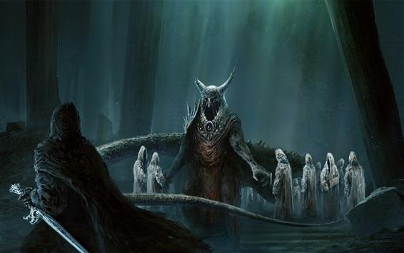 Fond d'écran Mort-vivant, démons, photo d'art