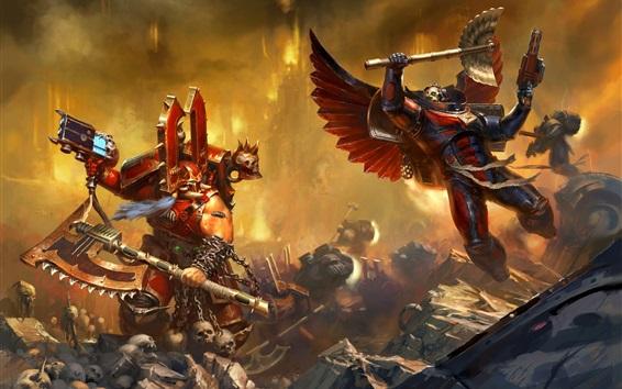 Обои Warhammer 40000, два воина в битве