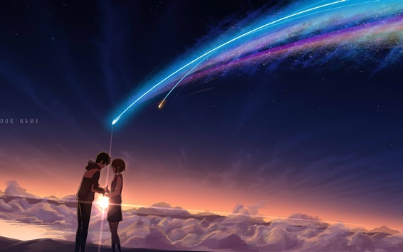 Wallpaper Your Name, beautiful meteor
